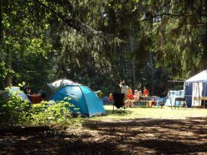 Campingdusche für den Zeltplatz